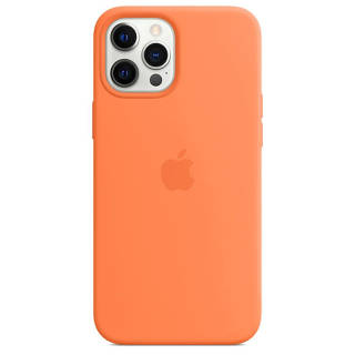 APPLE Silicone Case iPhone 12 Pro Max kumquat